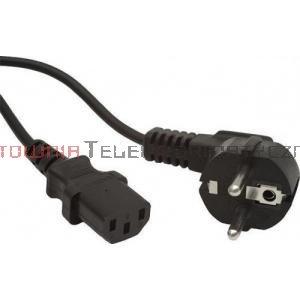 Kabel zasilający komputerowy z uziemieniem 230/C13 - 5,0 m