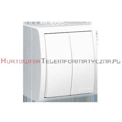 KONTAKT SIMON Aquarius Łącznik dwubiegunowy, biały, IP54
