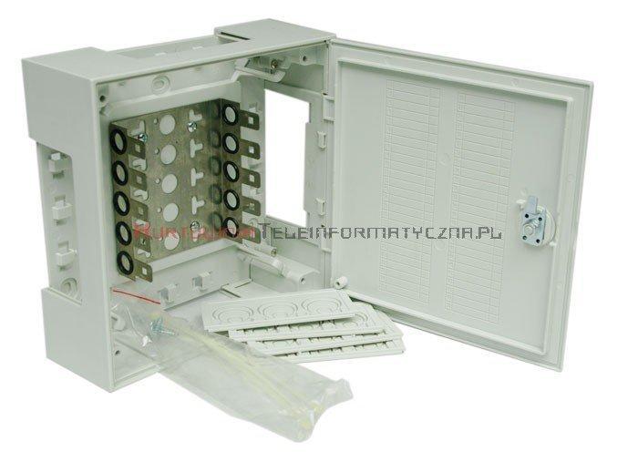 Box / skrzynka rozdzielcza LSA 50 parowa zamykana na kluczyk, typ KRONE