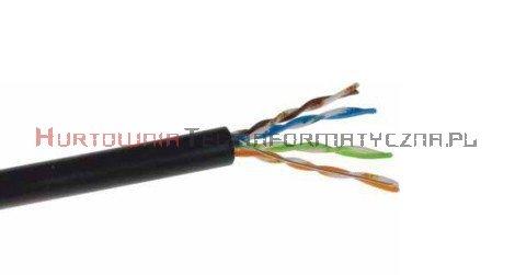 SecurityNET kabel U/UTP kat.6, drut, PVC/PE zewnętrzny suchy, czarny