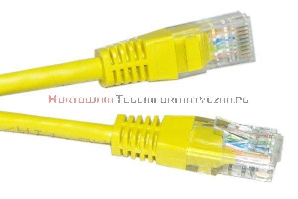 UTP Patch cord 1,0 m. Kat.6 żółty
