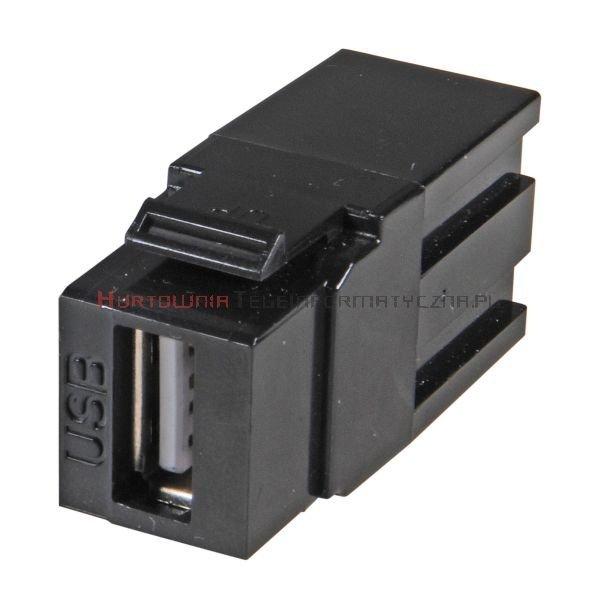 Moduł keyston USB 3.0, wtyk A (przelotowy)