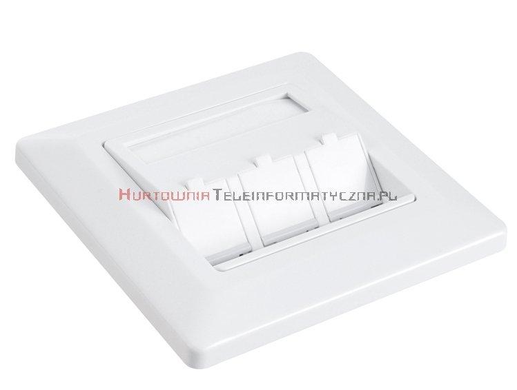 SOLARIX ramka/gniazdo modularne na 3 keystony, biała