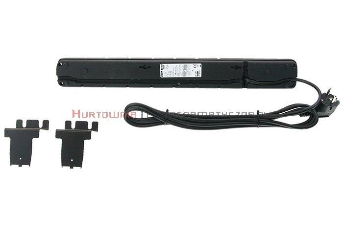 Acar S8 listwa zasilająca, 8x230, wyłącznik, bezpiecznik, 5.0m, czarna