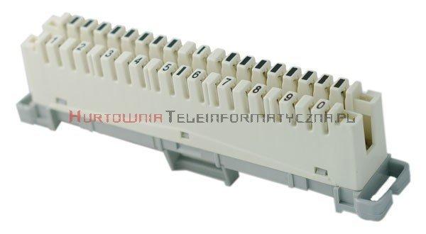 Łączówka LSA 2/10 rozłączna z kodem  1-0 (biała-szara)