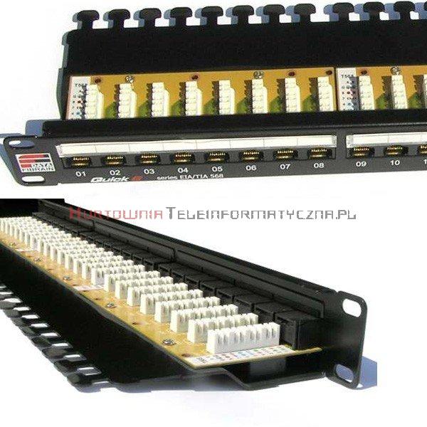 FIBRAIN DATA Quick UTP Patch Panel 24 ports RJ45 Kat.6+ z półką i polem opisowym