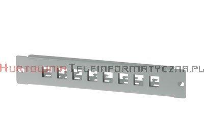 """BKT Patch Panel 10"""" 8xRJ45 nie wyposażony, szary"""