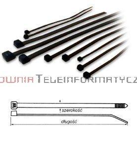 Opaska kablowa czarna UV 3,6x250 (100szt.)