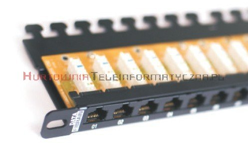 FIBRAIN DATA Express UTP Patch Panel 0,5U 24 porty RJ45 kat. 5e z półką