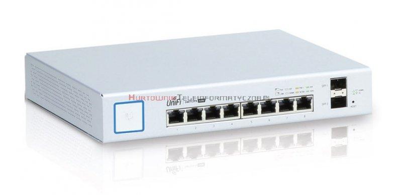 UBIQUITI Switch zarządzalny 8-port PoE+ Gigabit, 2 x SFP, 150W