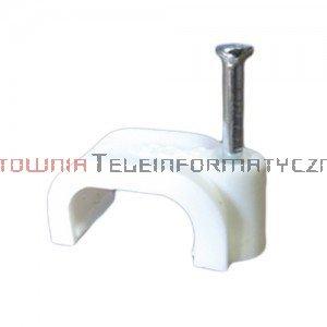 Uchwyt kablowy typu FLOP z gwoździem, na kabel płaski 7/5 mm (100 szt.)