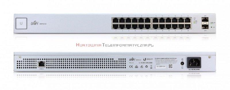 UBIQUITI Switch zarządzalny 24-port PoE+ Gigabit, 2 x SFP, 250W