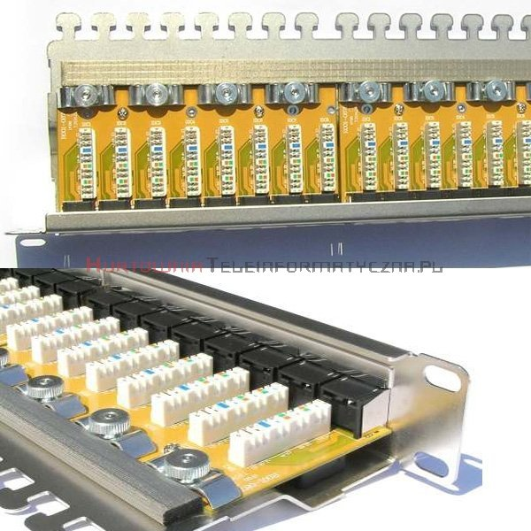 FIBRAIN DATA Quick FTP Patch Panel 24 ports RJ45 Kat.6+ z półką i polem opisowym