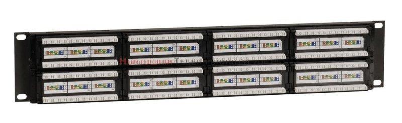 SOLARIX Patch Panel 48XRJ45 kat.5e UTP bez półki, czarny 2U