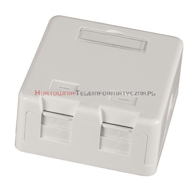 EFB Moduł puszka natynkowa na 2 x keystone z etykietą i ID