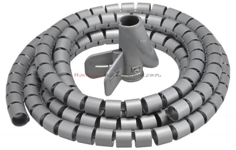 Organizator kabli okrągły spiralny fi30mm / 2m szary