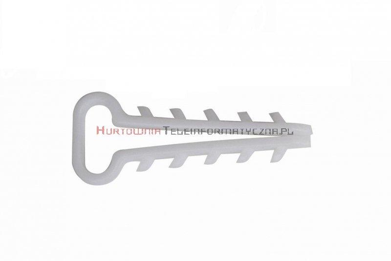 Uchwyt kablowy szybkiego montażu przewodów w tynku, płaski, 3x1,5  (100szt.)