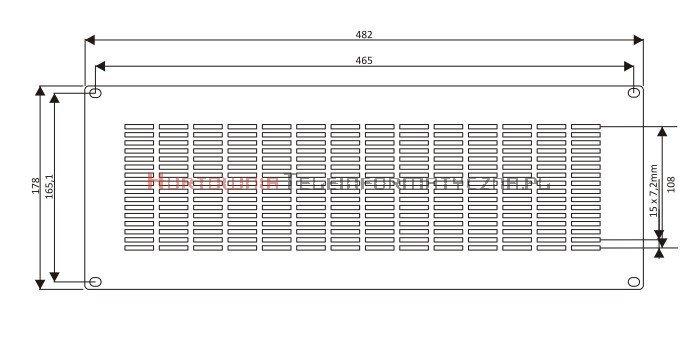 BKT Perforowana płyta zaślepiająca 4U RAL 7035 szary