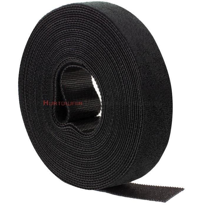 Opaska kablowa rzepowa 5m, 20mm, czarna