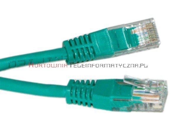 UTP Patch cord 1,5 m. Kat.5e zielony