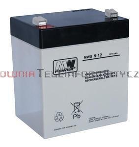MW POWER Akumulator AGM 12V 5,0 Ah (5lat)