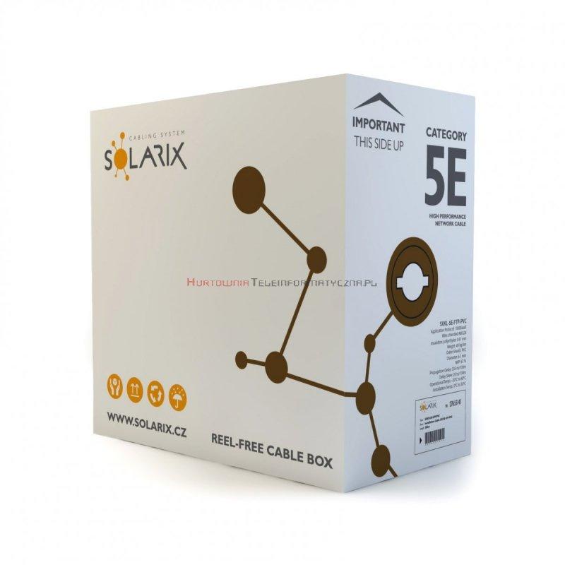 SOLARIX kabel F/UTP, linka, PVC, szary, kat.5e