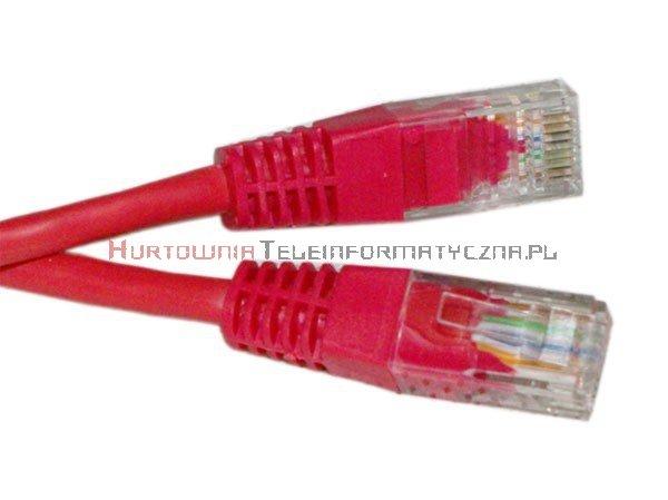 UTP Patch cord 1,0 m. Kat.5e czerwony