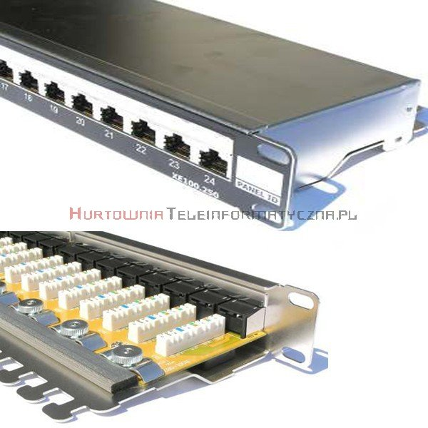 FIBRAIN DATA Express FTP Patch Panel 24 ports RJ45 Kat.5e+ z półką i polem opisowym