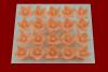 Lilijka łososiowa - dekoracja cukrowa 20 szt.