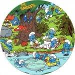 Kardasis - opłatek na tort okrągły Smerfy nad rzeką