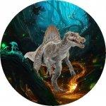 Hokus - opłatek na tort okrągły Spinozaur 1