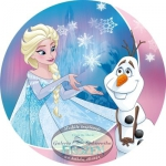 Modecor - opłatek na tort okrągły Kraina Lodu 2 (Frozen)