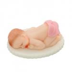 Figurka na tort BOBAS w pampersie chrzest baby shower różowy