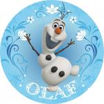 Modecor - opłatek na tort okrągły Olaf z Krainy Lodu (Frozen)