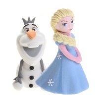 Modecor - Figurka cukrowa do dekoracji tortu Elsa i Olaf z Krainy Lodu