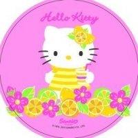 Modecor - opłatek na tort okrągły Hello Kitty A