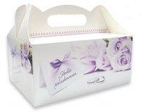 Ozdobne pudełko na ciasto weselne 10 szt. violet
