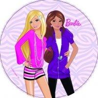 Modecor - opłatek na tort okrągły Barbie & Bella II