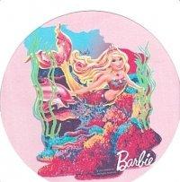 Kardasis - opłatek na tort okrągły Barbie Syrenka