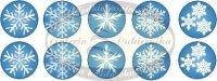 Opłatki na muffinki Płatki Śniegu (Frozen) 10 szt. śr. 30 mm