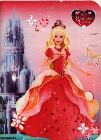 Kardasis - opłatek na tort prostokątny Barbie The Diamont Castle