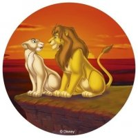 Modecor - opłatek na tort okrągły Król Lew