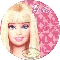Kardasis - opłatek na tort okrągły Barbie Face