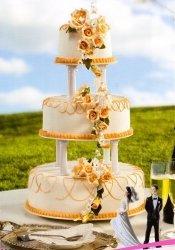 Kardasis - stojak okrągły na tort weselny 3p.
