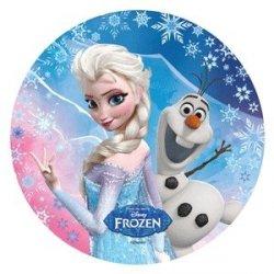 Modecor - opłatek na tort okrągły Kraina Lodu D (Frozen)