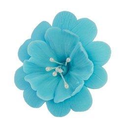 FUKSJA kwiat cukrowy na tort 6,5cm NIEBIESKI 1szt