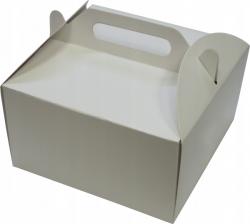 Pudełko kartonowe na tort ciasto z rączką 18x18X10 cm