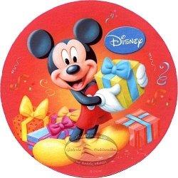Kardasis - opłatek na tort okrągły Myszka Miki 50791