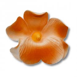Miltonia kwiat cukrowy na tort 5cm pomarańczowy 1szt