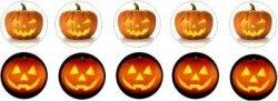 Opłatki na muffinki Dynia Halloween 10 szt.